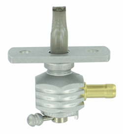 "Single Outlet On/Off Only Hex Finned Valve-1/4"" NPT-4000 Series- 5/16"" hose barb-with adapter-Aluminum"