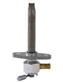 "Single Outlet Reserve Hex Valve-1/4"" NPT-4000 Series-3/8"" hose barb-with adapter-Aluminum"