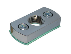 "Adapter Plate - Female Thread  1/4"" NPT with 46mm (approx. 1-13/16"") bolt pattern"