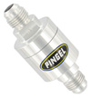 Inline SS Fuel Filter Satin 6AN In -6AN Out