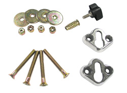 Removable Wheel Chock Mounting Hardware
