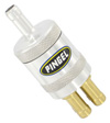 Inline SS Fuel Filter Satin 1 In 4 Out
