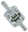 Inline SS Fuel Filter Chrome 1 In 1 Out