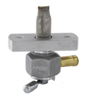 "Single Outlet On/Off Only Hex Valve-3/8"" NPT-4000 Series-3/8"" hose barb-with adapter-Aluminum"